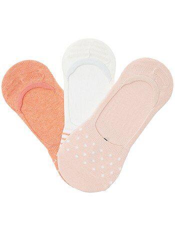 3 paires de chaussettes ballerines imprimées - Kiabi