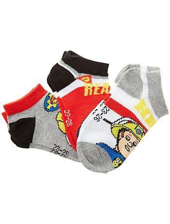 Garçon 3-12 ans - 3 paires de chaussettes 'Sam le pompier' - Kiabi