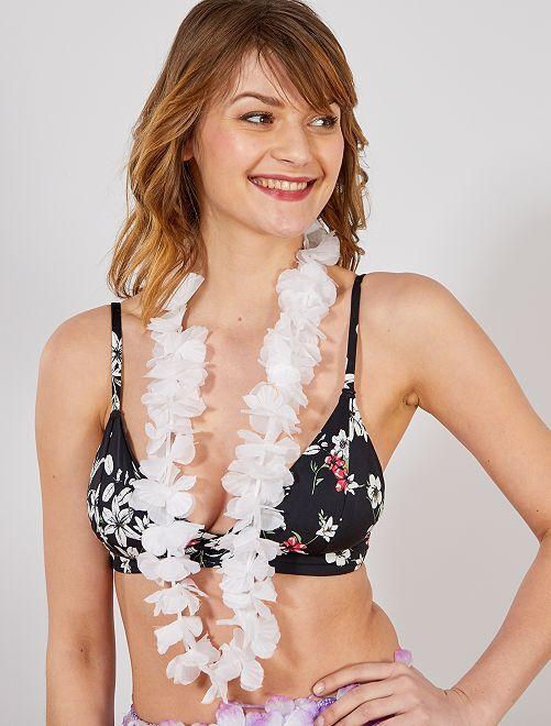 Accessoire collier hawaïen                                                                                         blanc