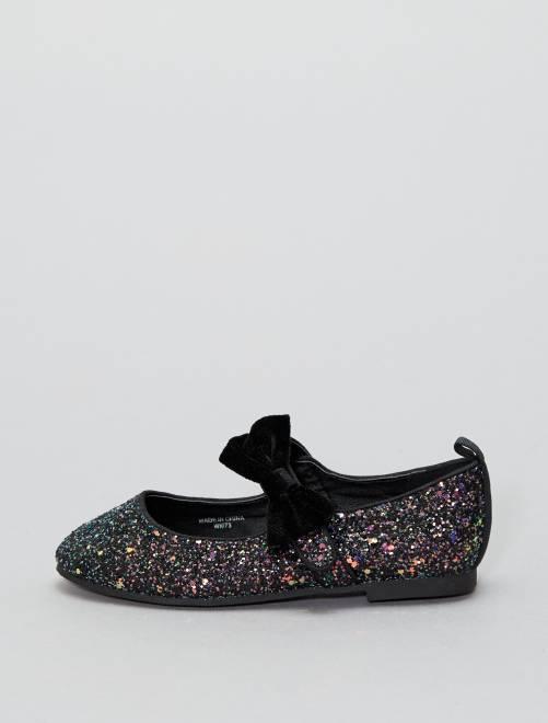 ballerines paillettes chaussures noir kiabi 10 00. Black Bedroom Furniture Sets. Home Design Ideas