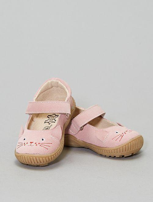 Ballerines 'Chat' en suédine                             rose Chaussures