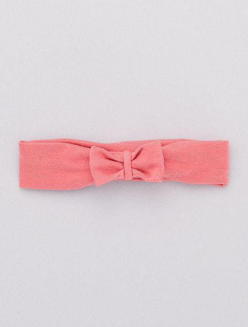 Bandeau noeud fantaisie                                                                                         rose foncé Bébé fille