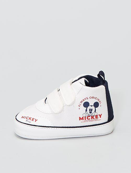 Baskets à scratchs 'Mickey Mouse' de 'DIsney'                             BLANC