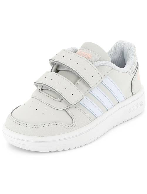 Baskets 'Adidas Hoops CMF C' blanc/gris Fille