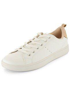 Chaussures femme - Baskets basses à lacets - Kiabi