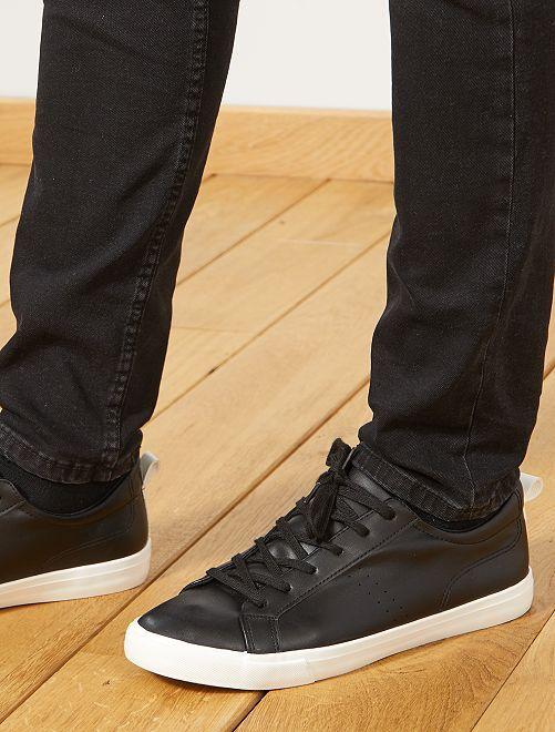 Baskets basses unies                                                     noir