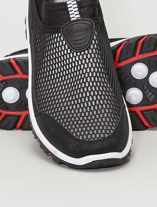 Baskets chaussons en mesh                             noir