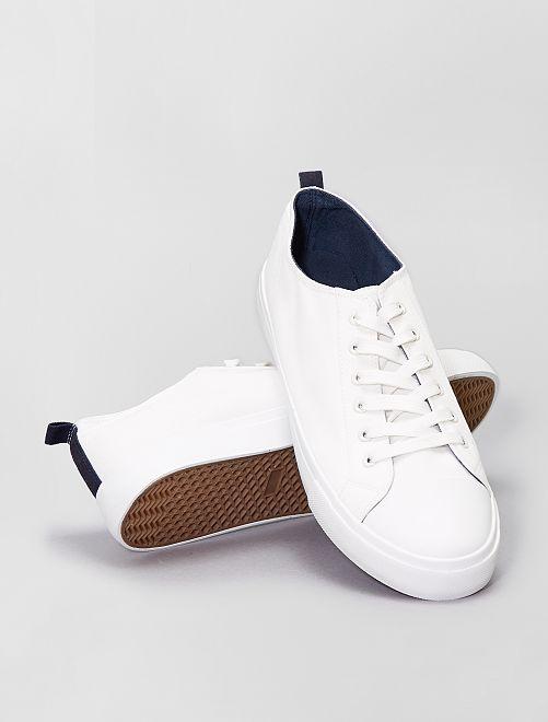 Baskets en toile                                         blanc