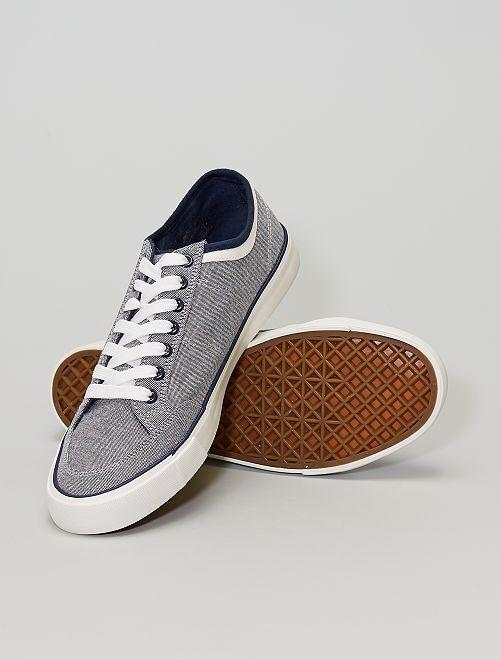 Baskets en toile                             gris