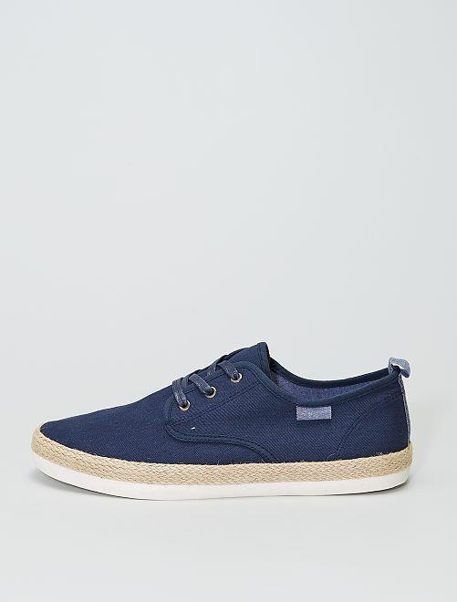 Baskets espadrilles en jean                             bleu navy