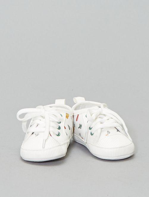 Baskets imprimé 'Légumes'                             blanc Chaussures