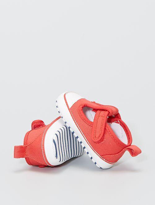 Baskets mi-ouvertes                     rouge