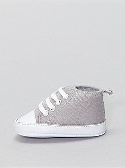 Chaussures, chaussons - Baskets montantes en toile