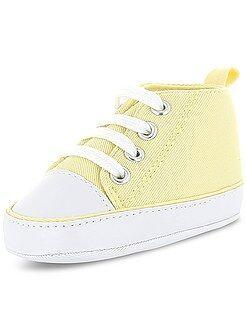 Chaussures bébé - Baskets montantes en toile