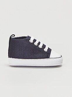 Chaussures bébé - Baskets montantes en toile - Kiabi