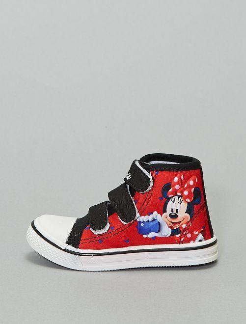 Baskets montantes 'Minnie'                             rouge