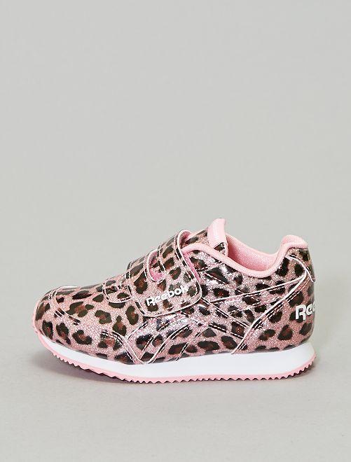 Baskets pailletées 'léopard 'Reebok'                             rose Fille