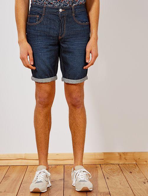 Bermuda 5 poches en denim                                 brut Homme