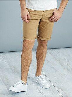 Homme du S au XXL Bermuda 5 poches en twill épais