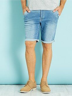Homme du S au XXL Bermuda en denim stretch