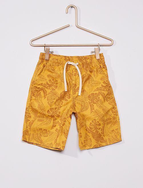 Bermuda imprimé en coton                                                                                                     jaune