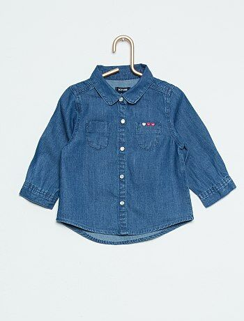 Blouse en denim - Kiabi