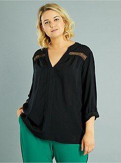 Top, blouse - Blouse fluide détails macramé - Kiabi