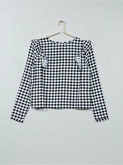 Chemise, blouse - Blouse volants aux emmanchures