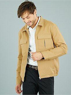 Manteau, veste - Blouson zippé à poches