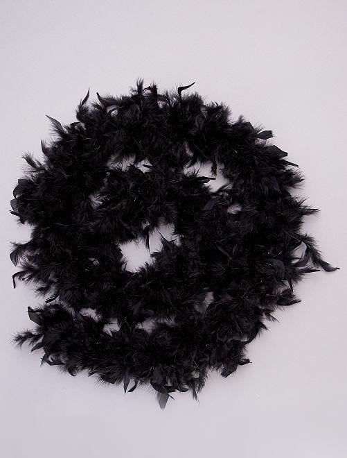 Boa à plumes                                                                             noir