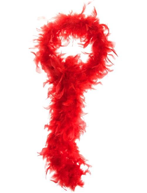 Boa à plumes                                                                                                     rouge Femme