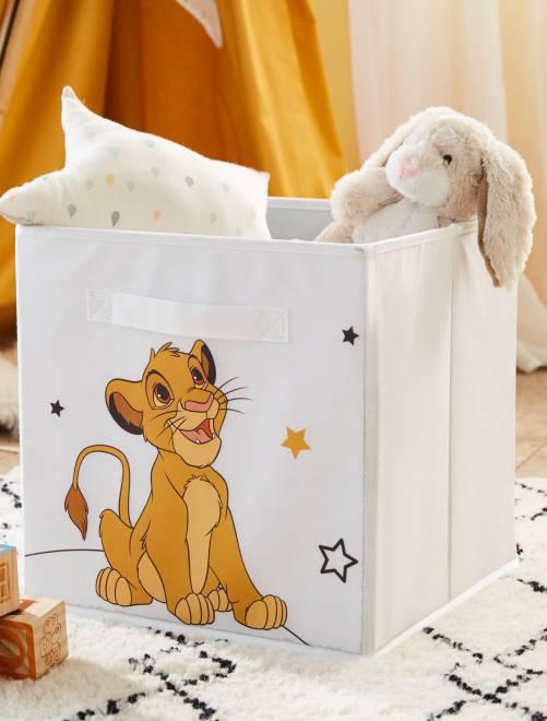 boite de rangement pliable 39 le roi lion 39 linge de lit blanc kiabi 7 00. Black Bedroom Furniture Sets. Home Design Ideas