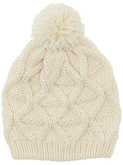 Accessoires blanc - Bonnet à pompon