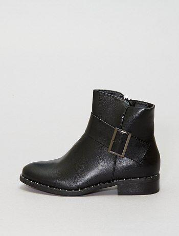 Boots à boucle - Kiabi
