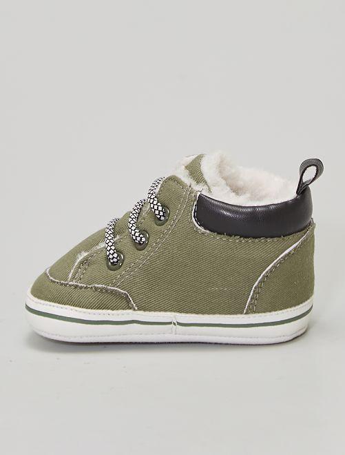 Boots à lacets                             vert lichen
