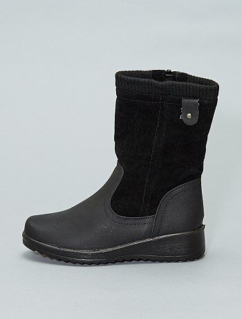 Boots bi-matière compensées - Kiabi