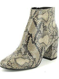 Boots en simili effet 'peau de serpent'