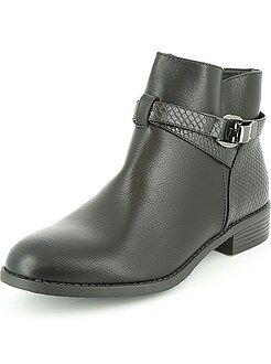 Boots en simili effet serpent