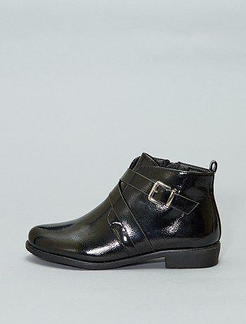 Boots en simili verni - Kiabi