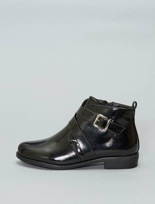 Boots en simili verni                             noir Chaussures