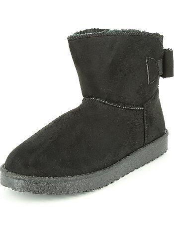 Boots en suédine fourrées - Kiabi