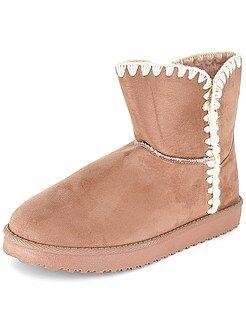 Boots fourrées en suédine - Kiabi