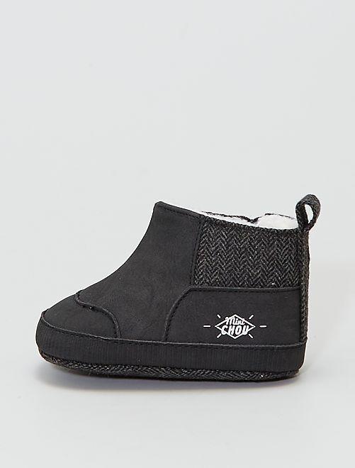 Boots fourrées                                         gris foncé