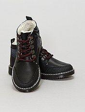Boots montantes en simili