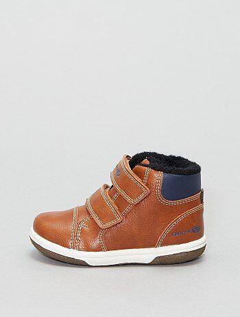 Boots montantes 'Geox' en cuir fourrées - Kiabi