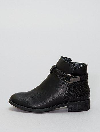 Boots simili effet 'serpent' - Kiabi