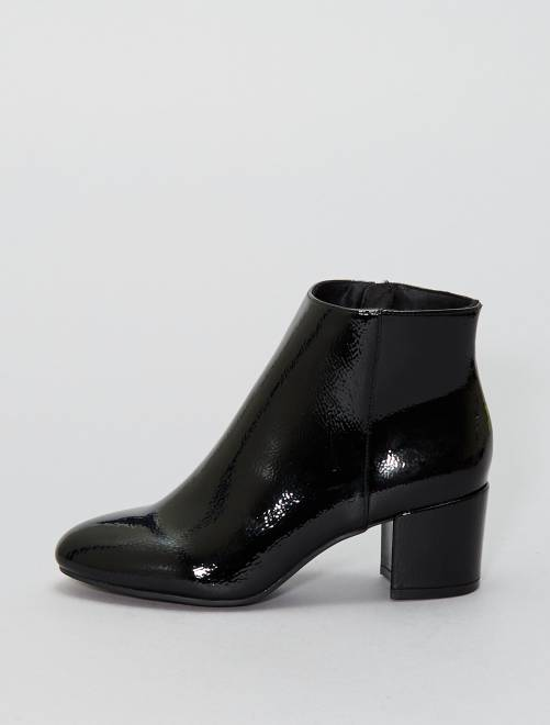 boots vernis chaussures noir kiabi 15 00. Black Bedroom Furniture Sets. Home Design Ideas