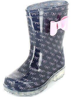 Chaussures, chaussons - Bottes de pluie à semelles lumineuses - Kiabi