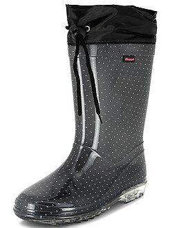 Chaussures fille - Bottes de pluie en plastique - Kiabi