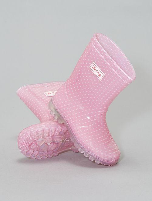 Bottes de pluie lumineuses                             rose Bébé fille